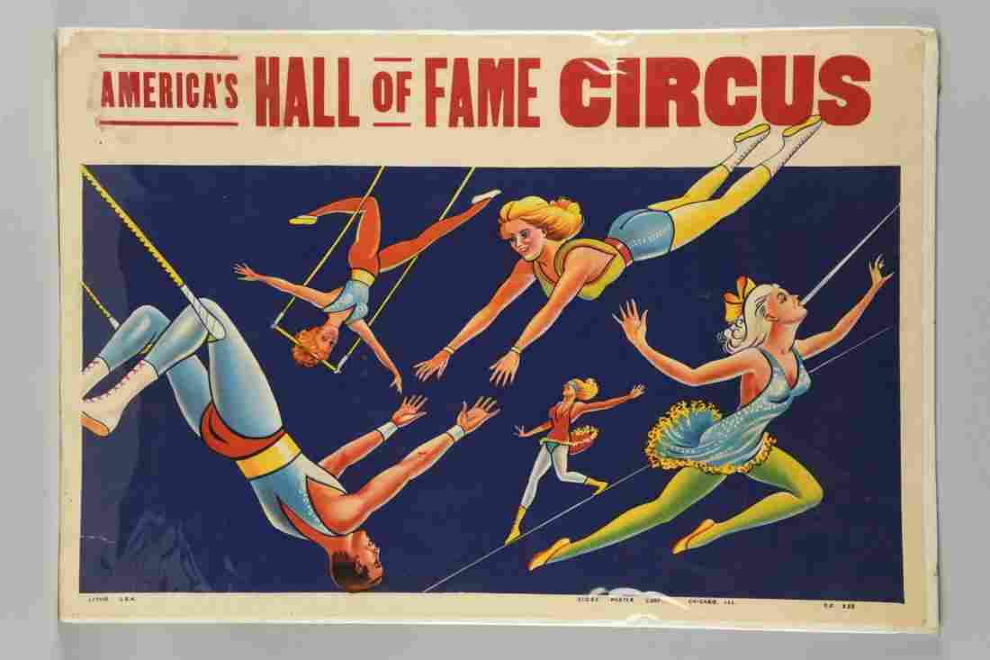 America's Hall Of Fame Circus Poster.