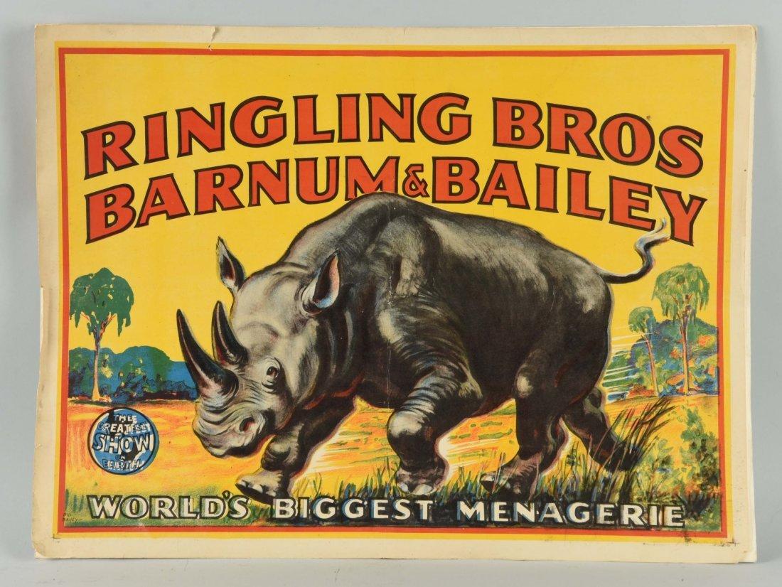 Ringling Bros Barnum & Bailey Circus Poster.