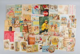 Lot Of 30+: Flour Related Advertising Trade Cards.