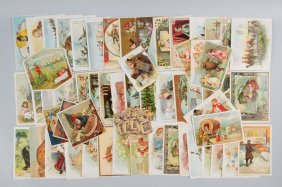 Lot Of 30+: Coffee Advertising Trade Cards.
