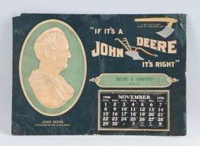 1908 John Deere Cardboard Advertising Calendar.