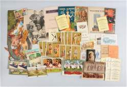 Lot of 20 Advertising Trade Cards  Brochures