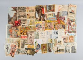Lot Of 20+: Advertising Brochures And Trade Cards