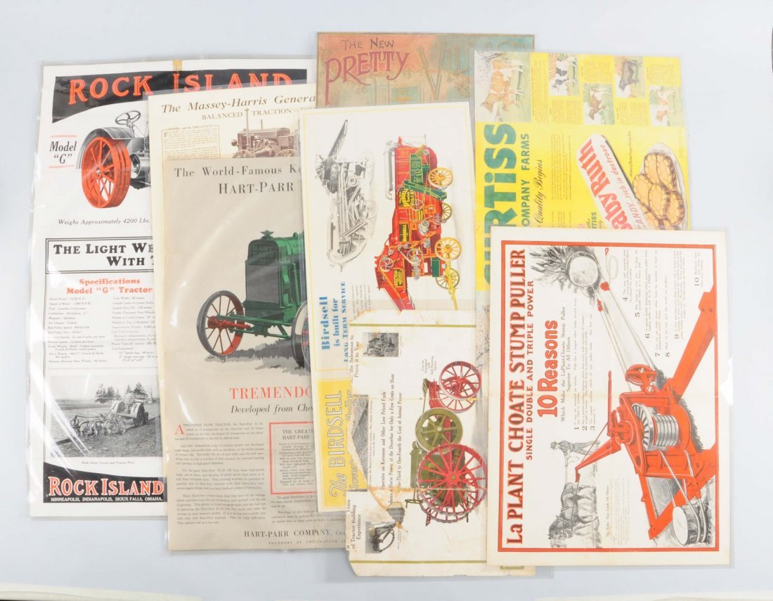 Lot Of 8: Early Agriculture Brochures.