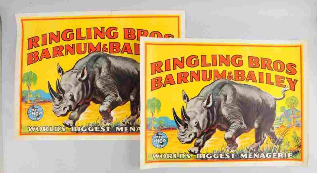 Lot of 2: Ringling Bros,Barnum & Bailey Posters.