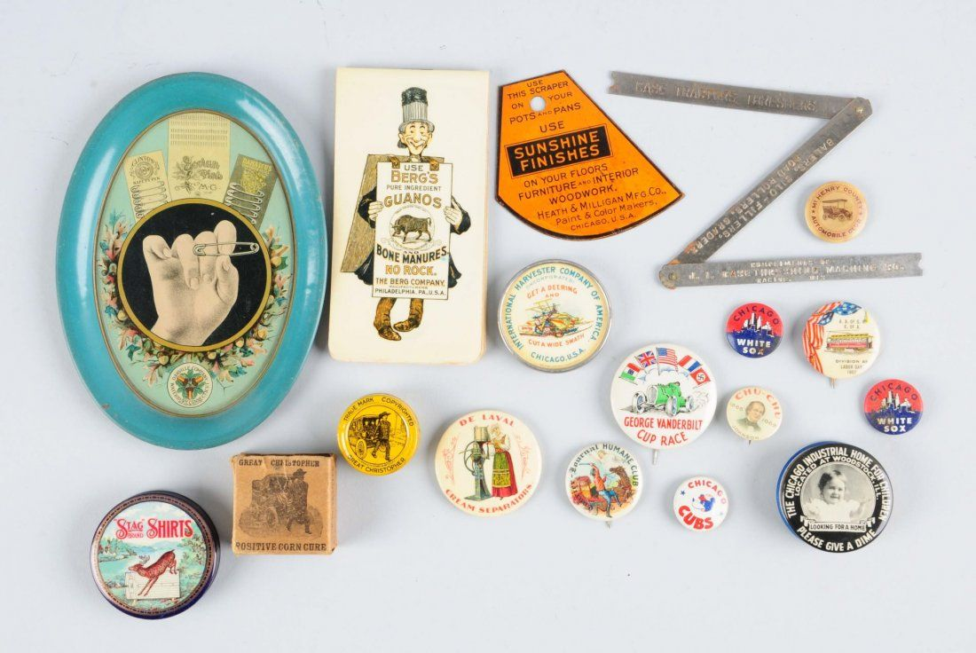 Lot Of Early Advertising Pinbacks.
