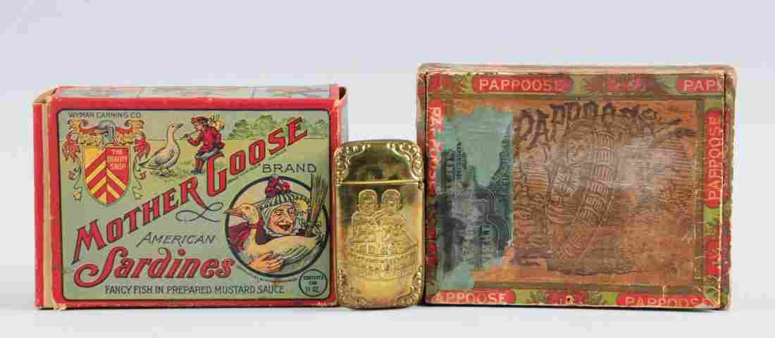 Lot of 3: Advertising Cigar & Food Pieces.