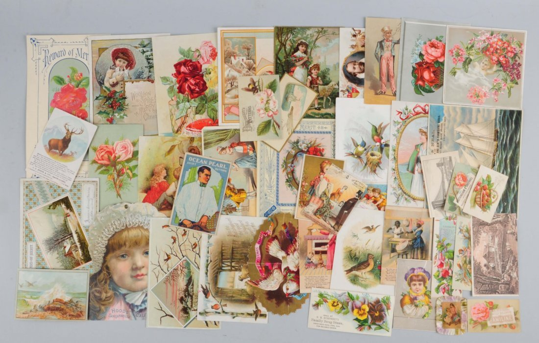 Lot of 20+: General Advertising Trade Cards.