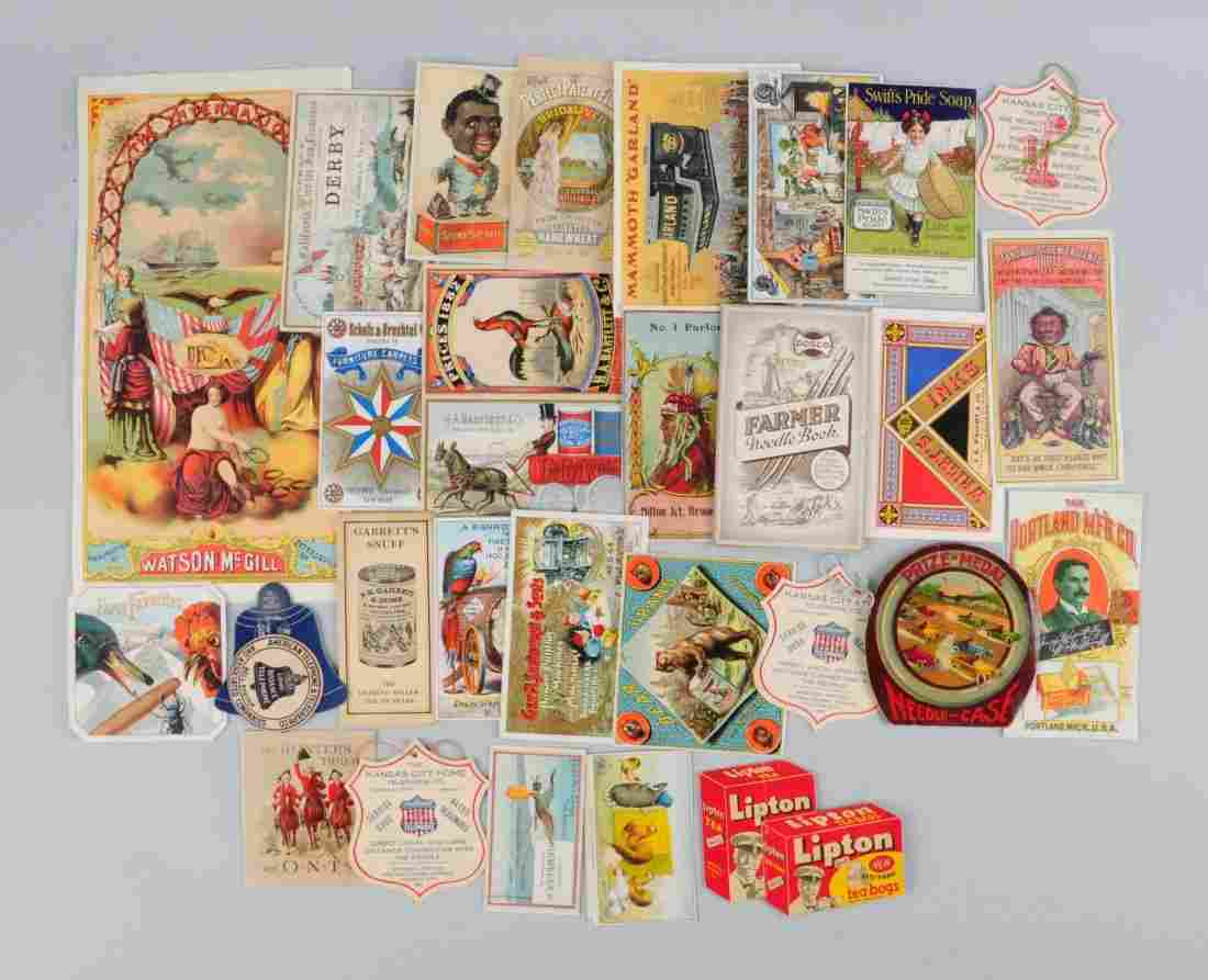 Lot of 20+: Agriculture & General Trade Cards.