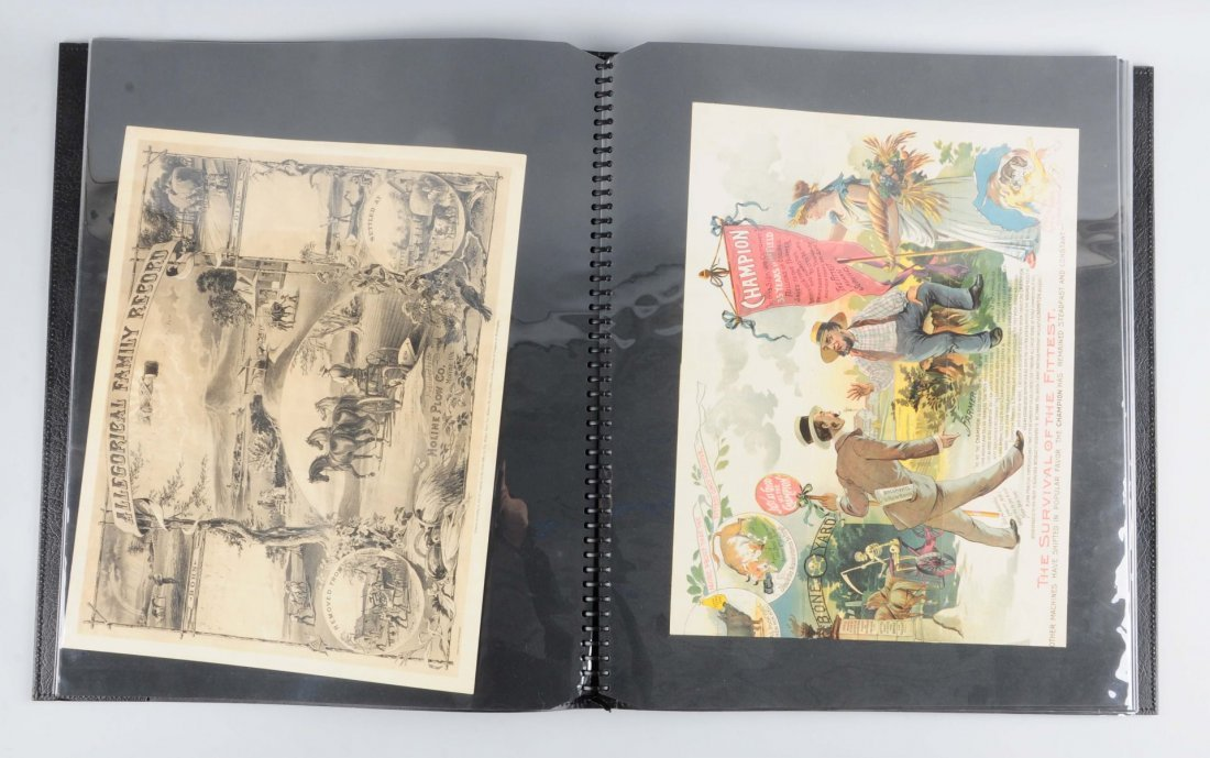 Scrapbook with Agriculture Related Brochures.