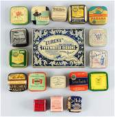 Lot of 18: Assorted Typewriter Ribbon Tins.