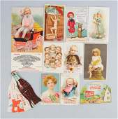 Lot of 12 Assorted Soda Advertising Trade Cards
