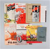 Lot Of 8: Farming Machinery Catalogs.