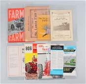 Lot Of 8: Farming Machinery & Implement Catalogs.
