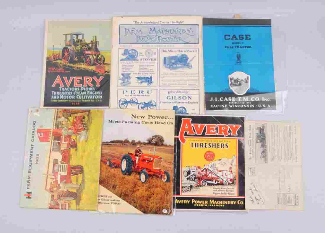 Lot Of 7: Farming Machinery & Implement Catalogs.