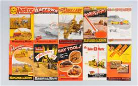 Lot Of 10: Farming Machinery Catalogs.