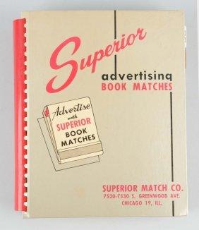 Salesman Sample Book Of Advertising Matchbooks.
