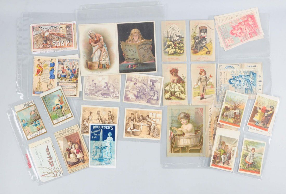 Large Lot Of Vintage Trade Cards.