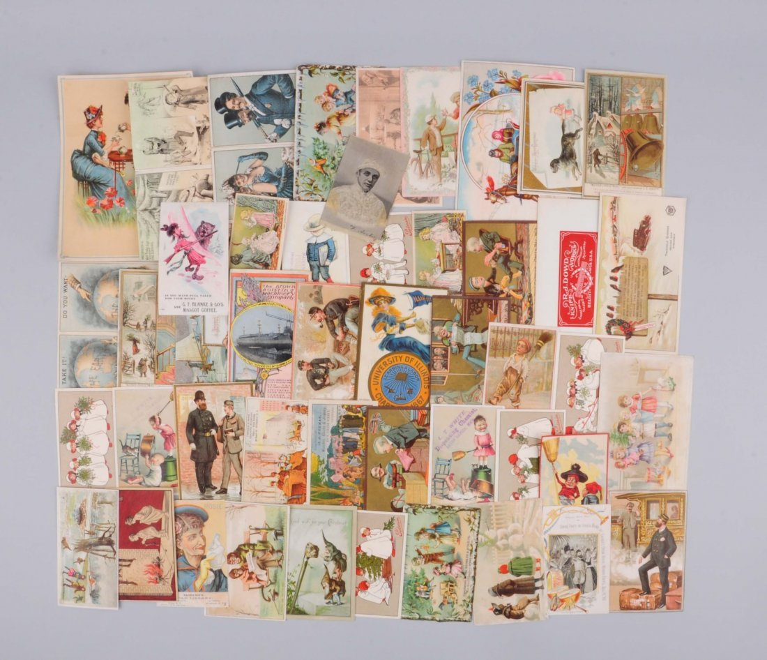Large Lot Of Vintage Trade Cards .