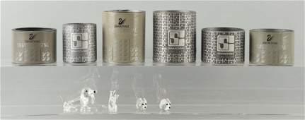 Lot Of 6 Swarovski Crystal Pieces
