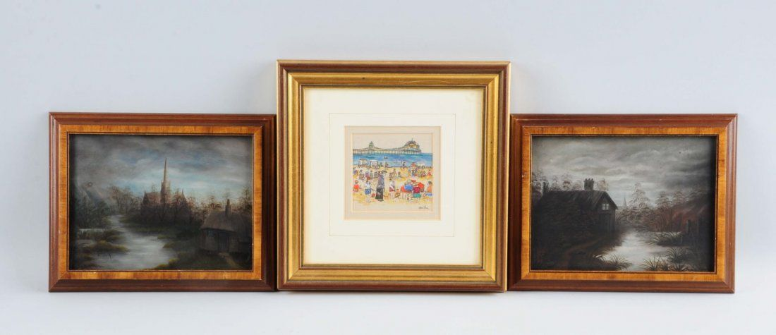 Lot Of 3: Framed Paintings.