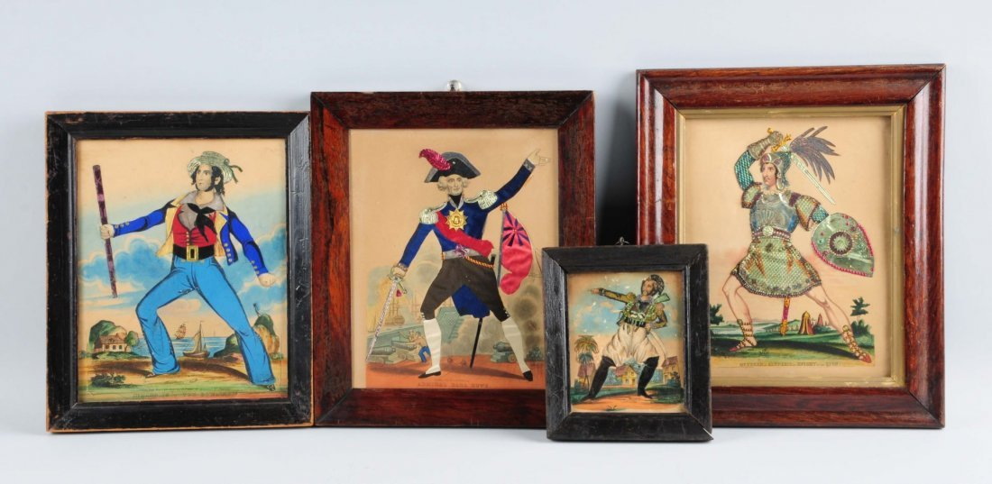 Lot Of 4: Very Early Prints of Knights w/ Applique