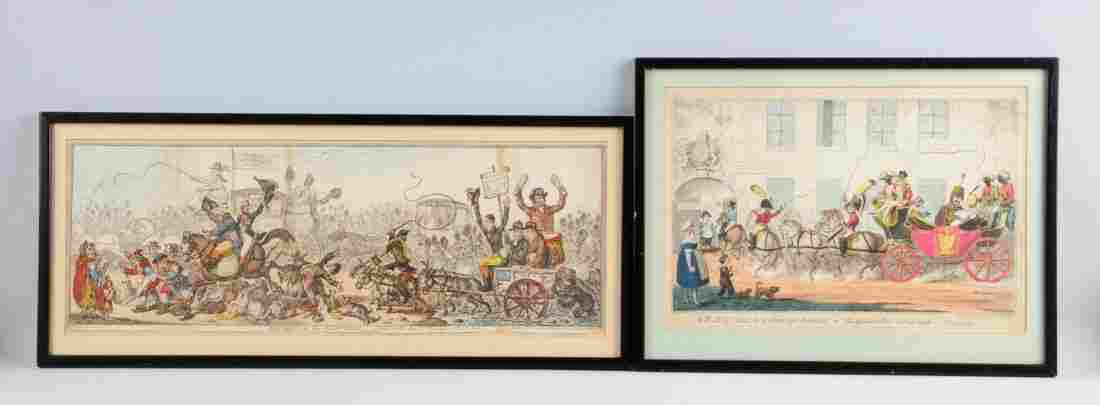 Lot Of 2: Early 1800's Colored English Prints.
