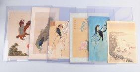 Lot Of 6: Japanese Artwork Of Birds.