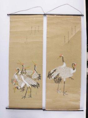 Lot Of 4: Japanese Woodblock Prints.