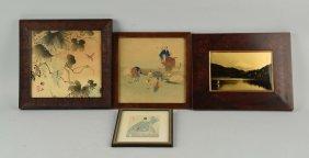 Lot Of 4: Framed Japanese Woodblock Prints.