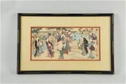 Large Japanese Woodblock Print