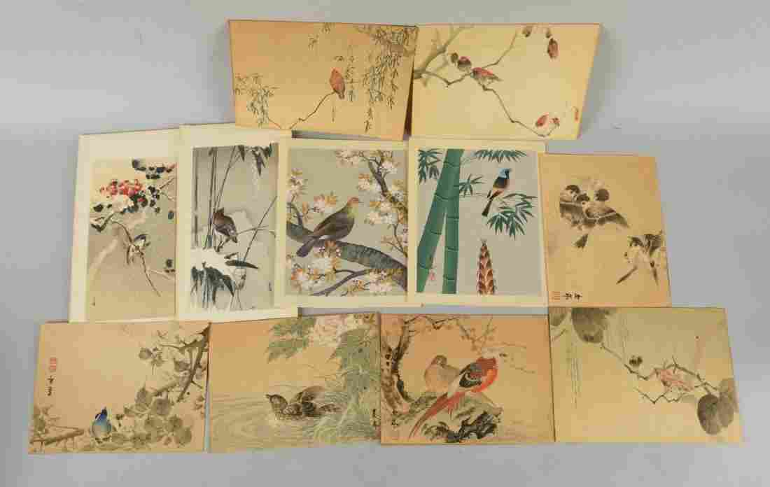 Lot Of 10: Assorted Japanese Wood Block Prints.