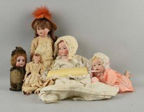 Lot Of 5: Dolls.