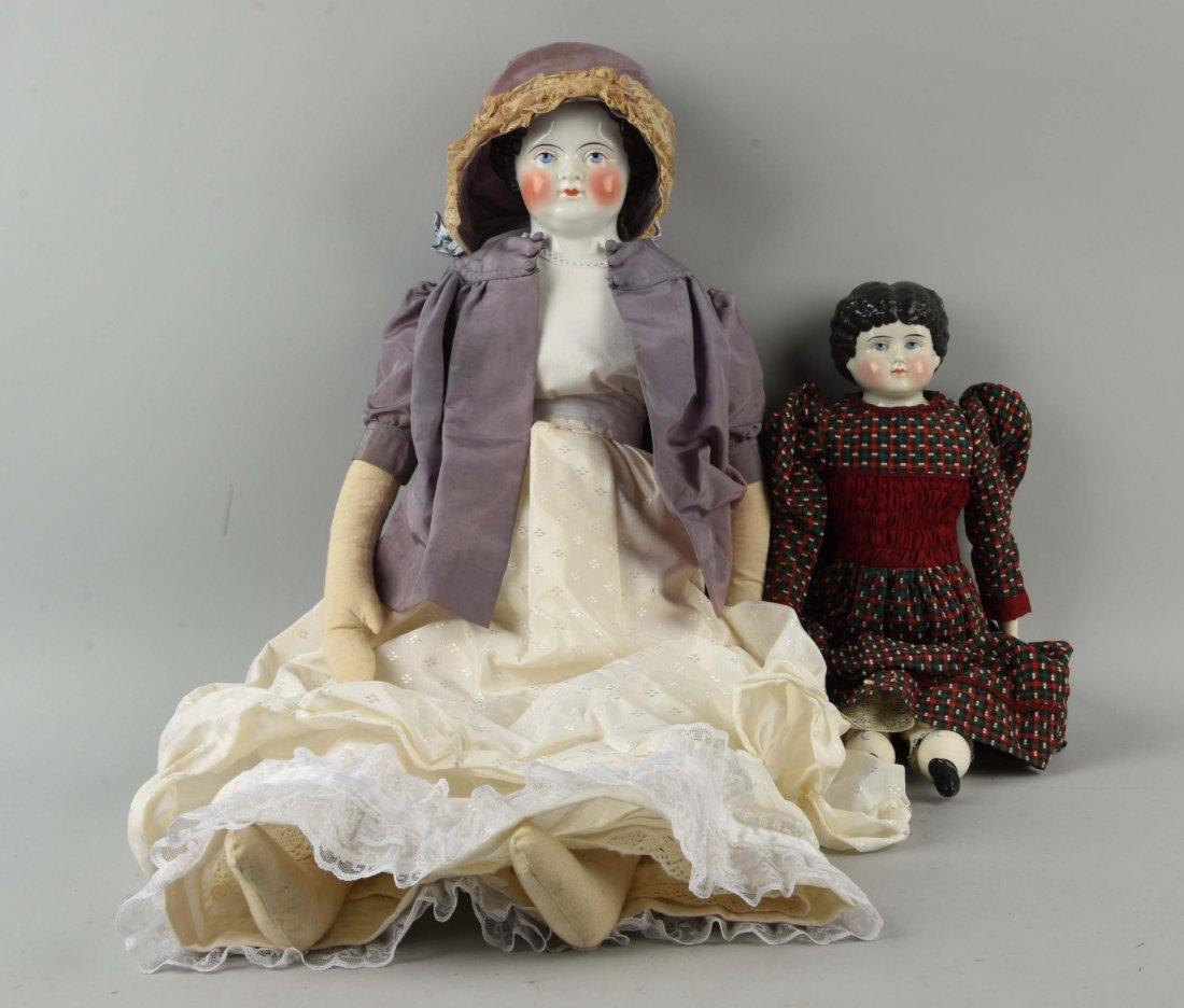 Lot of 2: Antique China Head Dolls.