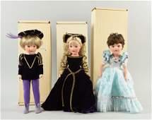 "Lot of 3: Boxed Modern Vinyl 14"" Mary Hoyer Dolls."