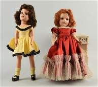 """Lot of 2: Boxed 1950's 14"""" H.P. Mary Hoyer Dolls."""