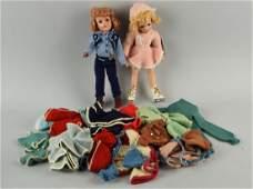 Lot Of 2: Vintage Mary Hoyer Dolls with Wardrobe.