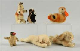 Lot of 6: Steiff Animals.