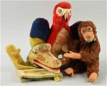 Lot of 3 Steiff Animal Toys