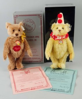 Lot Of 2: Steiff Teddy Bears