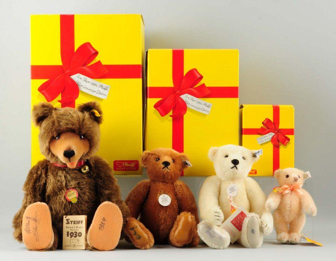 Lot Of 4: Steiff Teddy Bears.