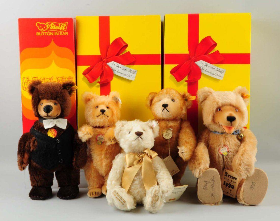 Lot Of 5: Steiff Teddy Bears.