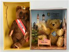 Lot Of 2 Steiff Teddy Bears