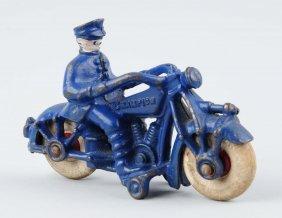 Small Champion Cast Iron Motorcycle.