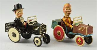 Lot of 2: Marx Tin Comic Character Whoopee Cars.