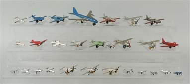 Lot of 28 Dimestore Airplanes