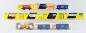 Lot Of 10: Liliput Advertising Freight Cars.