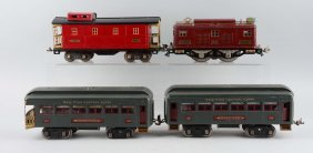 Lionel Maroon No. 8 Passenger Train Set.