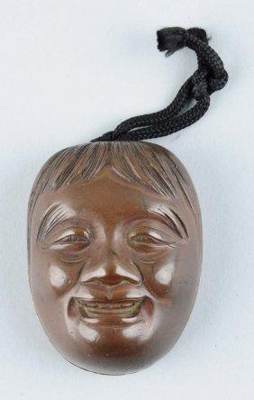 Brass Japanese Non Mask Snuff Box.