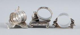 Lot Of 3: Vintage Figural Napkin Rings.